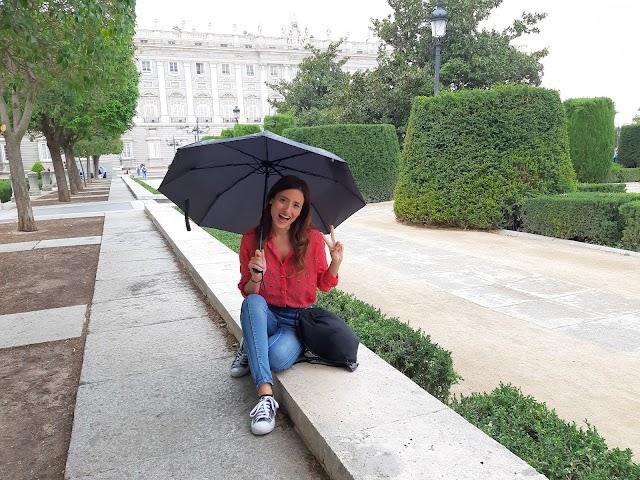 Magda Salinas en el Palacio Real, en un momento del rodaje.
