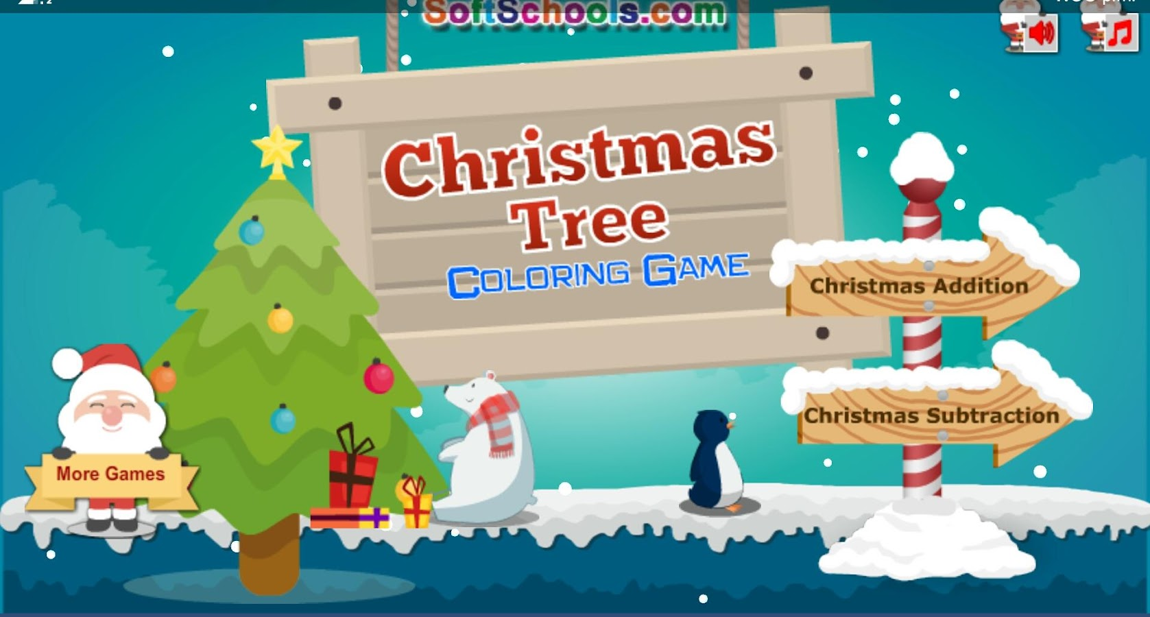 Christmas Coloring Game - Addition and Subtraction - Android Apps on ...