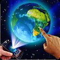 Terra no espaço 3D Tema icon