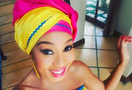 Kgomotso Christopher's husband has no problem with her kissing scene.