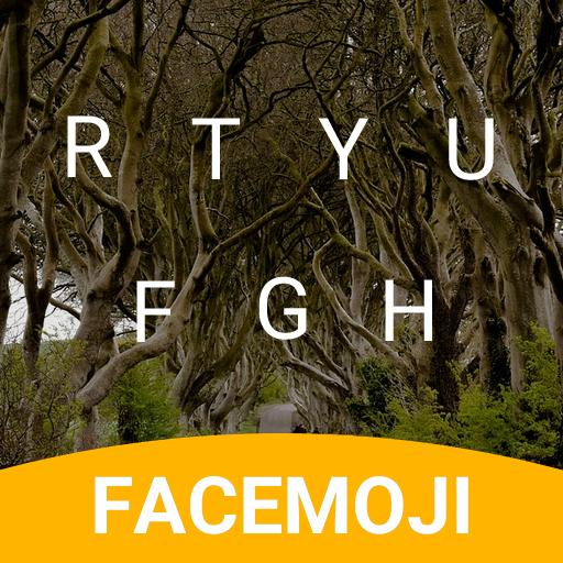 Dark Hedges Emoji Keyboard Theme for GOT