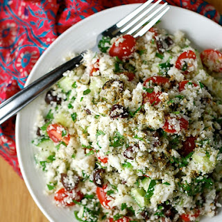 Raw Cauliflower Couscous Salad with Za'atar