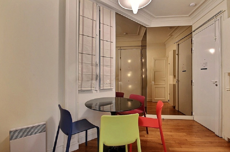 Dining space at Rue du Louvre