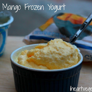 Homemade Mango Frozen Yogurt