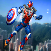 Super Captain Hero Flying Robot City Rescue OPS