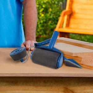 Trafalet cu rezervor Paint Roller cu brat extensibil