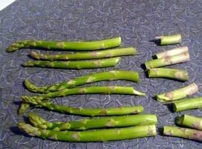 Snap and discard woody part of asparagus.In bowl drizzel olive oil and lemon pepper...