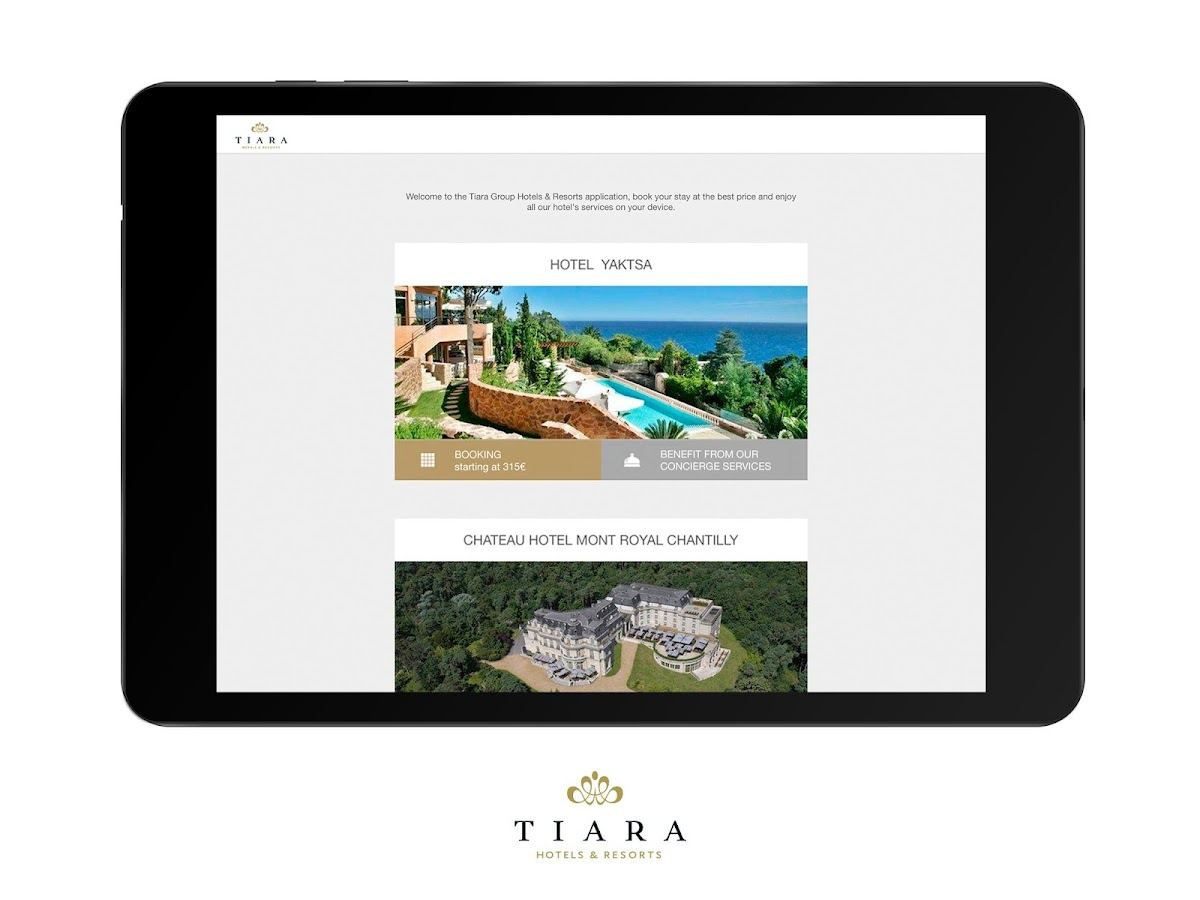 Tiara Hotels & Resorts- screenshot