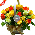 صور باقات زهور متحركة  GIF icon