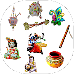 Janmashtami Sticker & Krishna Sticker for whatsapp Icon