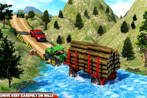 Drive Tractor trolley Offroad Cargo- Free Games 2.0.04 screenshots 1