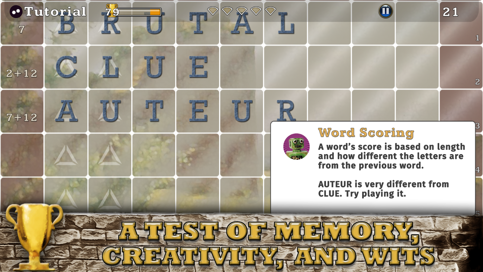 Orthografiend: a word game- screenshot