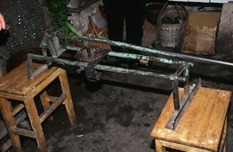 Photo: 03541 土城子/食堂/ユウマイ押し出し麺作り