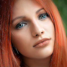 Izzy 7 by Samir Zahirovic - People Portraits of Women ( #lips, #portrait, #beauty, #redhair, #woman, #face )