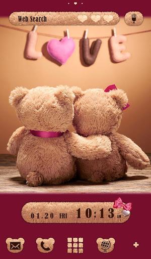 Cute Theme Teddy Bear Couple 1.0.1 Windows u7528 1