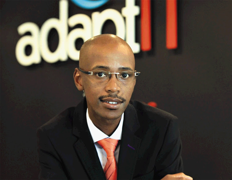 Adapt IT CEO Sbu Shabalala. Picture: SUNDAY TIMES