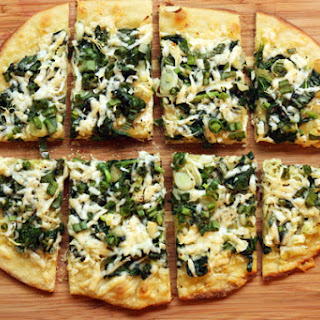 Spring Greens Flatbread Pizza.