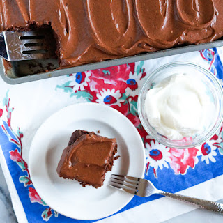 Old-Fashioned Greek Yogurt Chocolate Snacking Cake.