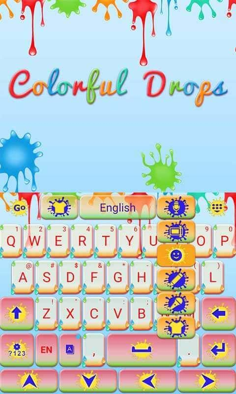 Colorful-Drops-Keyboard-Theme 11