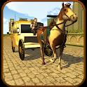 City Horse Carriage Cart Rider Simulator icon