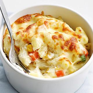 Cheesy Veggie Pasta Casserole.