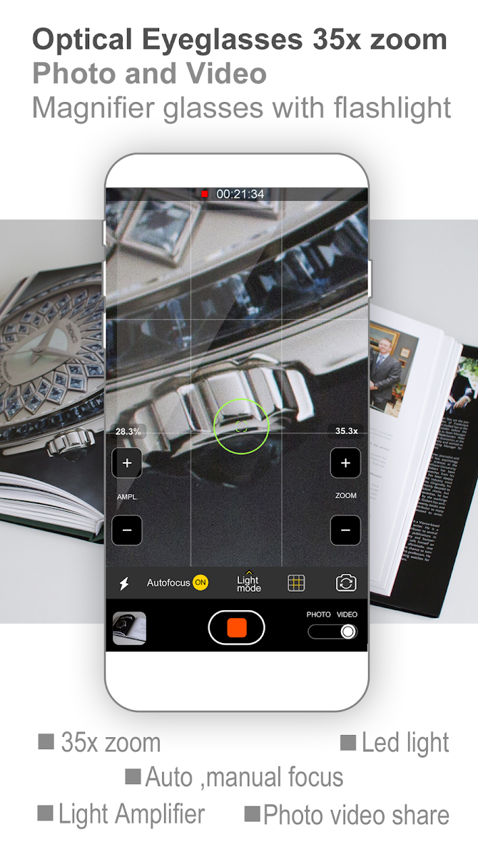 Pocket Eyes 35x zoom Photo & Video Magnifier Android 1