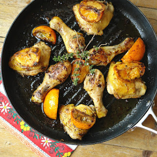 Baked Orange and Balsamic Vinegar Drumsticks.