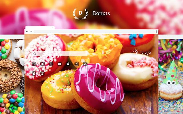 Donuts HD Wallpapers New Tab Theme