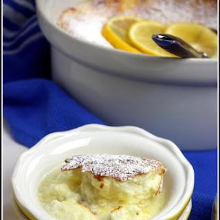 Meyer Lemon Sponge Pudding Cake