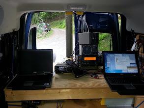 Photo: Operating station desk rebuild V/UHF (L) and Microwave (R)