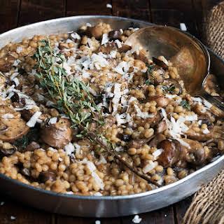 Barley Risotto with Mushrooms.