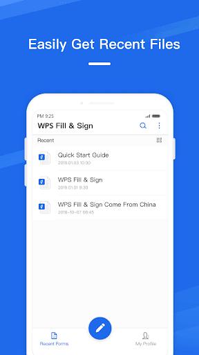 WPS Fill & Sign 1.1.3 screenshots 1