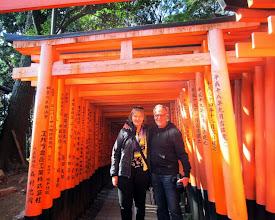 Photo: Turistit tyypillisessä Kioton kuvassa
