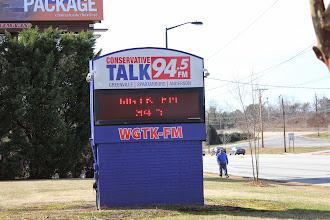 Photo: 'Conservative Talk 94.5,' where I did a public radio segment