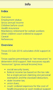 TX Child Support Calc 2016- screenshot thumbnail