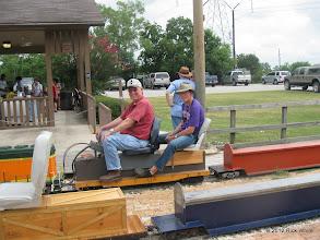 Photo: Engineer David Hannah and Brakeman Leighton Moreland.  HALS 2012-0818 Rick White Photo
