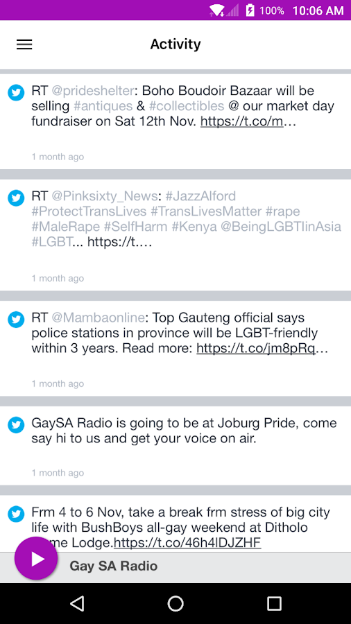 Gay SA Radio- screenshot
