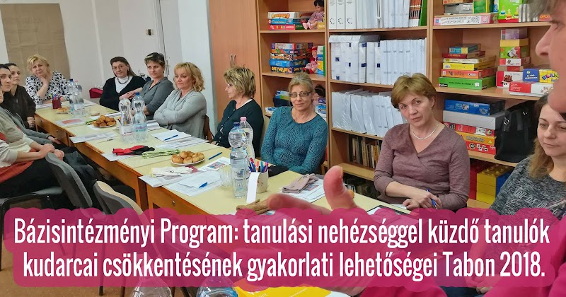 Bázisintézményi Program tanulási nehézséggel küzdő tanulók - Tab 2018.02.20