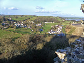 Photo: Llanstephan in the sunshine......oh look, there's a pub!!