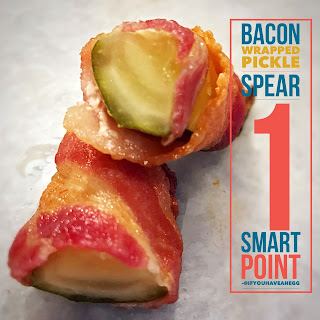 Bacon Wrapped Pickle Spears, 1 WW Smart Point Recipe