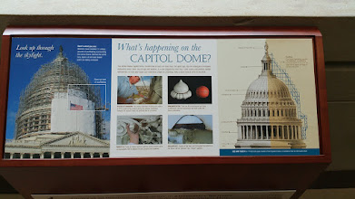 Photo: wondering about the scaffolding on the dome? They are reparing it - it's been 160 years since the last repair.