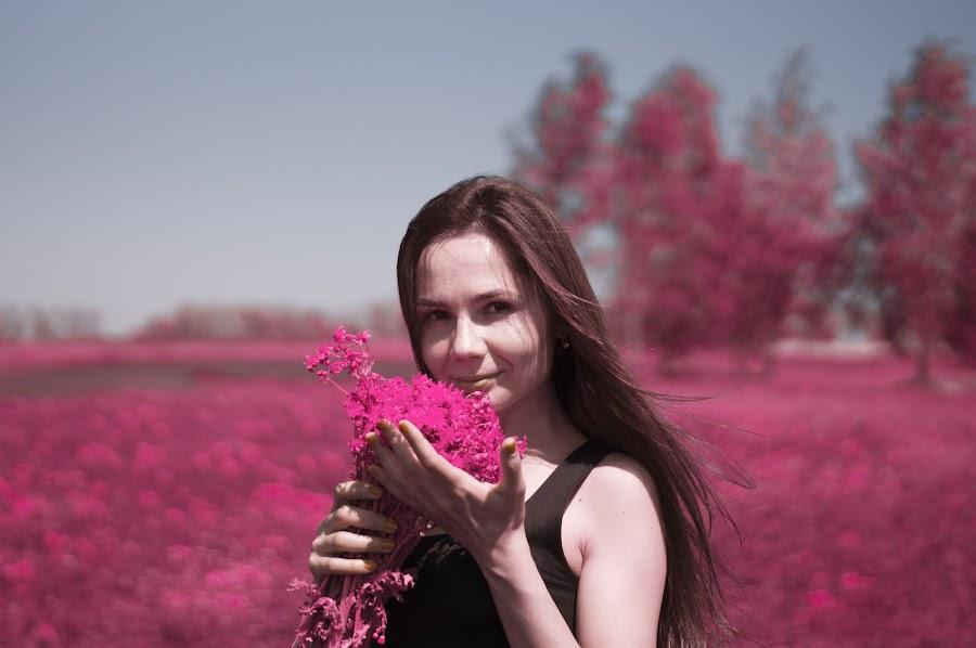 Woman and Red by Michael Krivoshey - People Portraits of Women ( girl, ukraine, autumn,  )