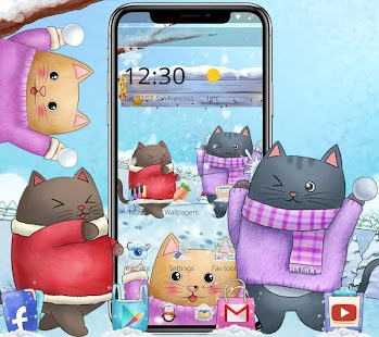 Cute Kitty Launcher Theme - náhled