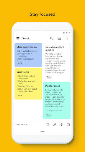 Google Keep - Notes and Lists 5.20.321.03.40 screenshots 5