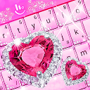 App Download Pink Diamond Princess Keyboard Theme Install Latest APK downloader