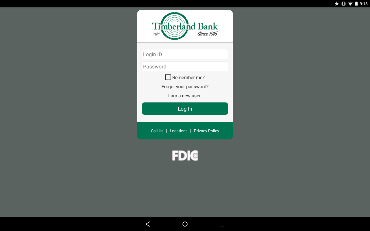 Timberland Bank Mobile Banking- screenshot