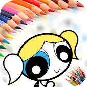 Coloring Book Power puff Girls