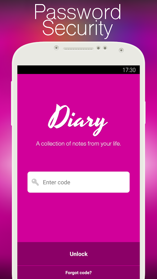 Screenshots of My Diary for iPhone