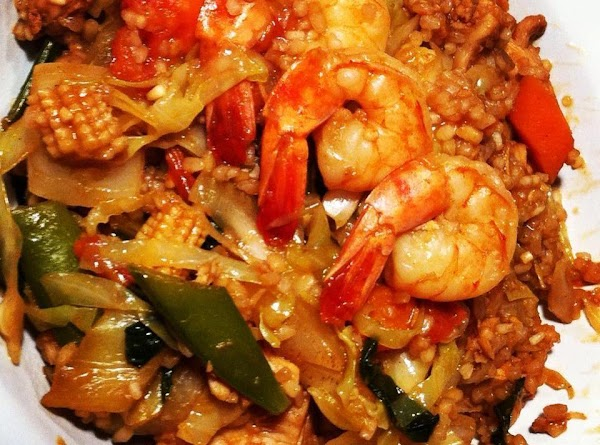 Chicken And Shrimp Asian Rice Recipe