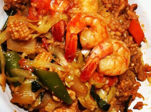 Chicken And Shrimp Asian Rice